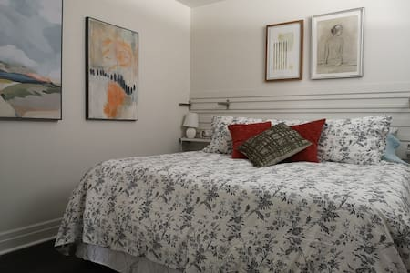 King bed-bright space near Downtown College & RVH