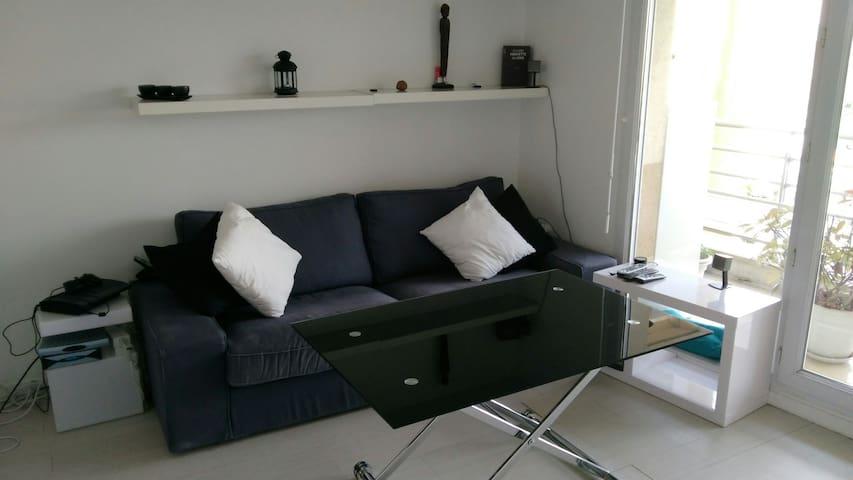 Studio 30m² avec balcon et parking privé - Plaisir - Apartemen