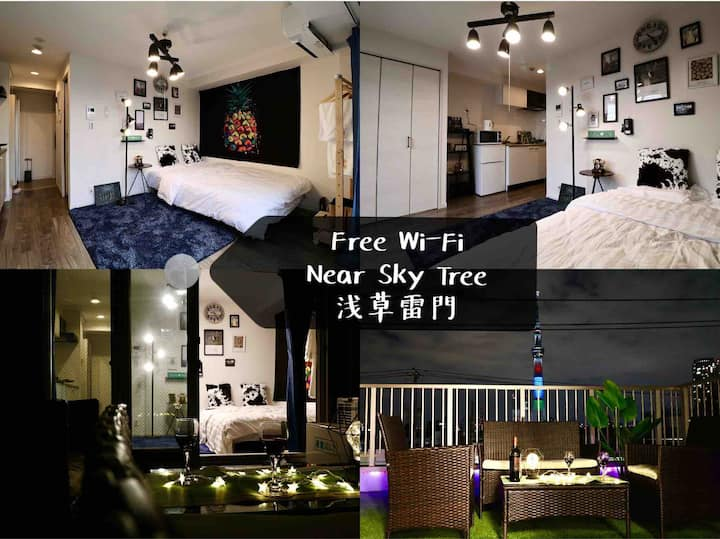 Tokyo Garden House Hotel!Room401超级大的露台,東京夜景尽收眼底