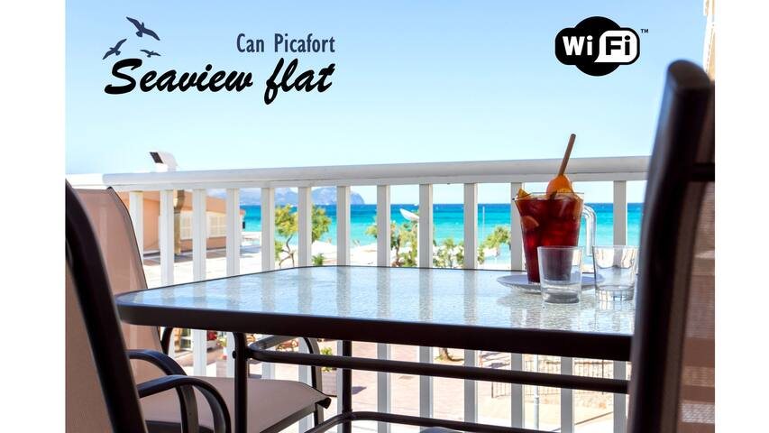 Can Picafort seafront flat. 6 pers. WIFI. A/C - Can Picafort - Appartement