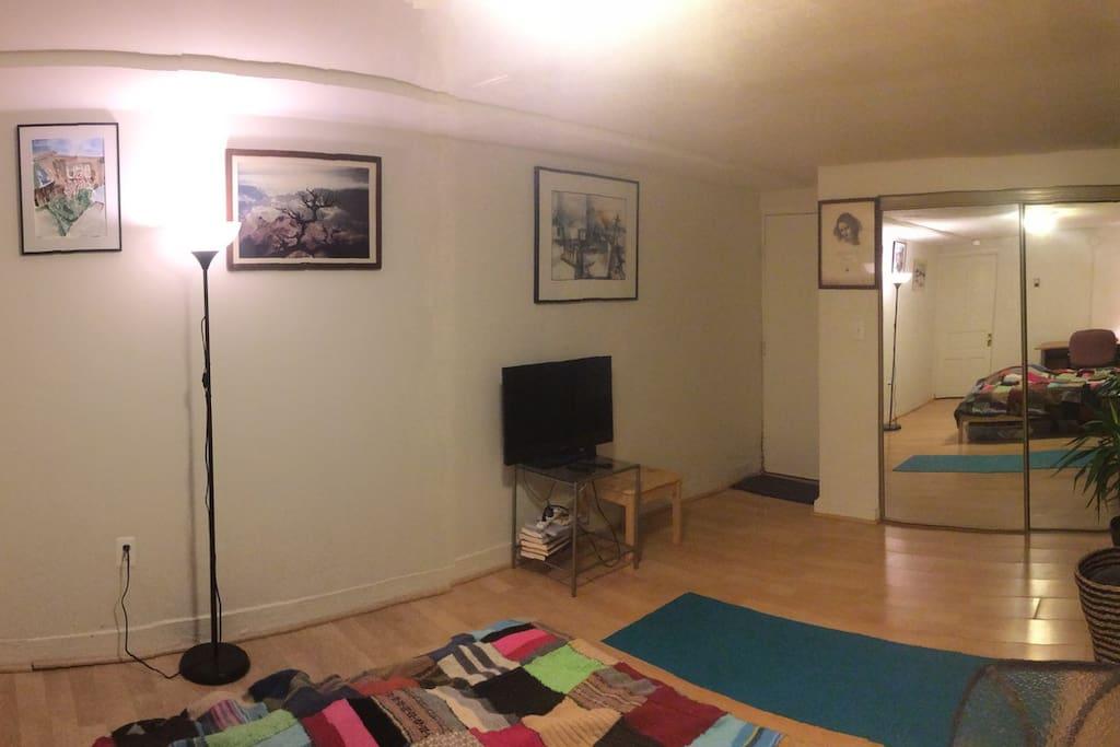 Bedroom 1 facing west