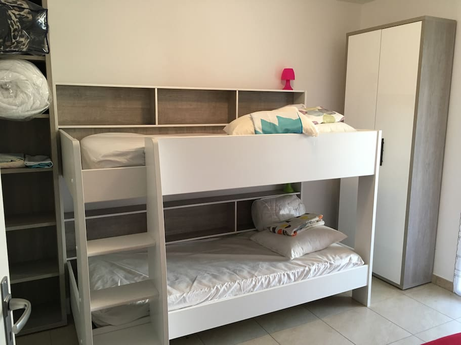 bedroom number 2,  bunk bed and a sofa bed