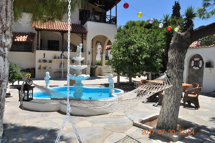 Aegina town, summer house with beautiful garden