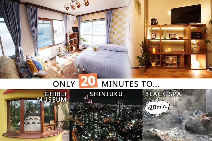 Self isolation Direct to Shinjuku area in 20min.!