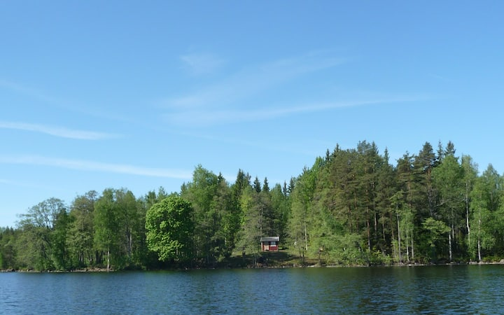 unique lakeside cottage / canoe+boat, sjöläge!
