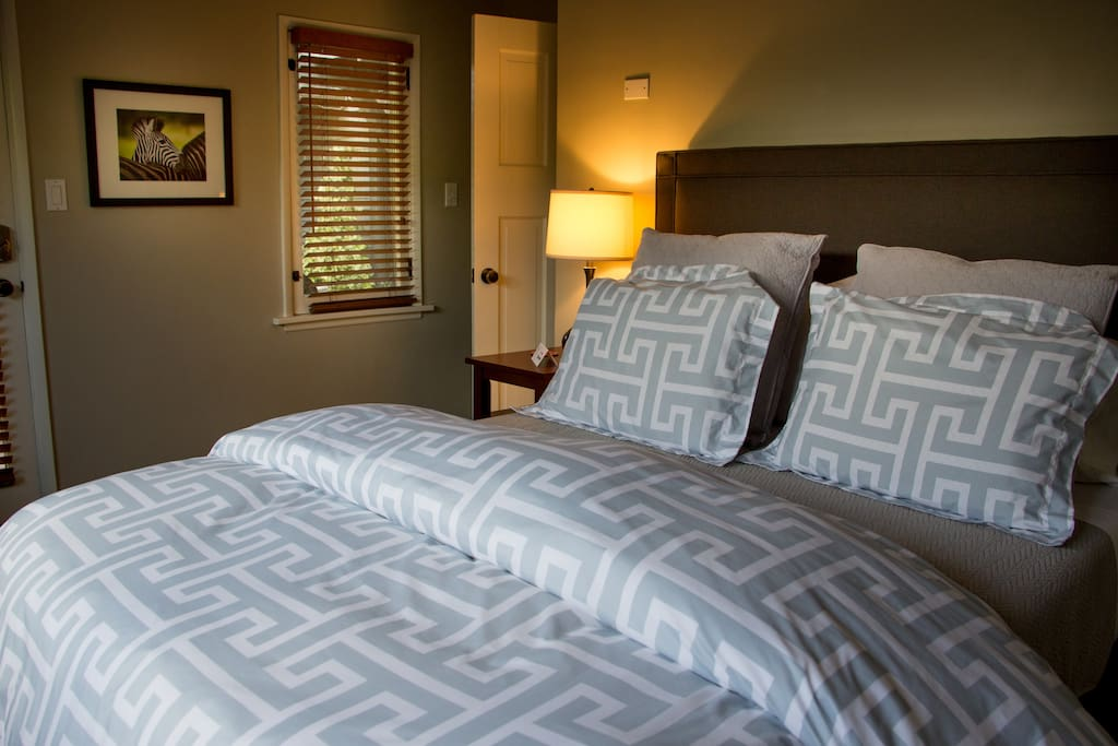 Your bedroom with access to outdoor courtyard.