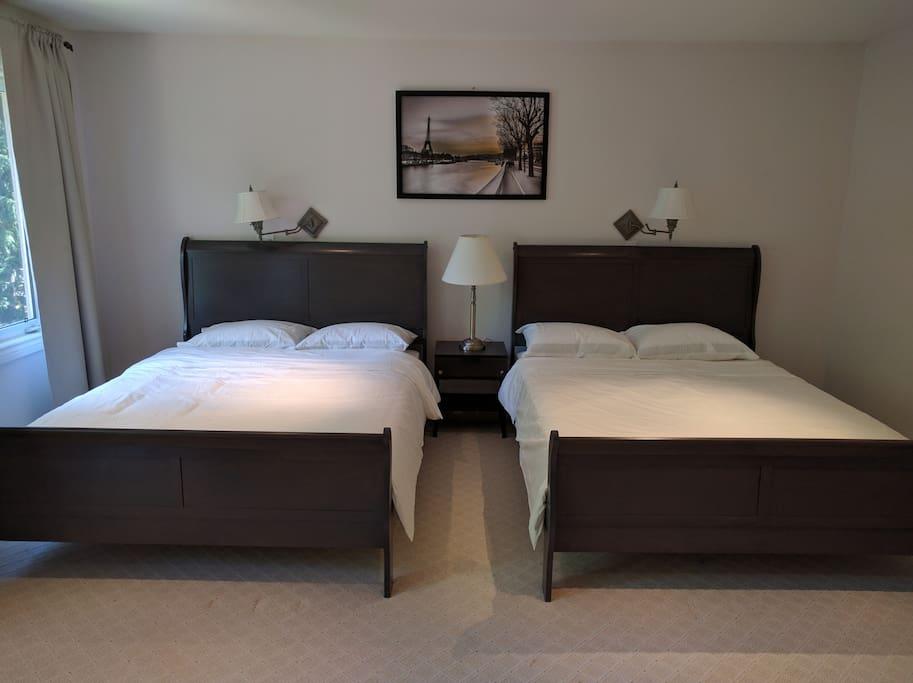 Two standard queen beds
