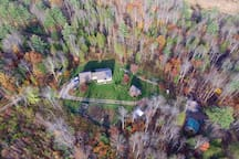 70 forested acres make for a quiet neighborhood