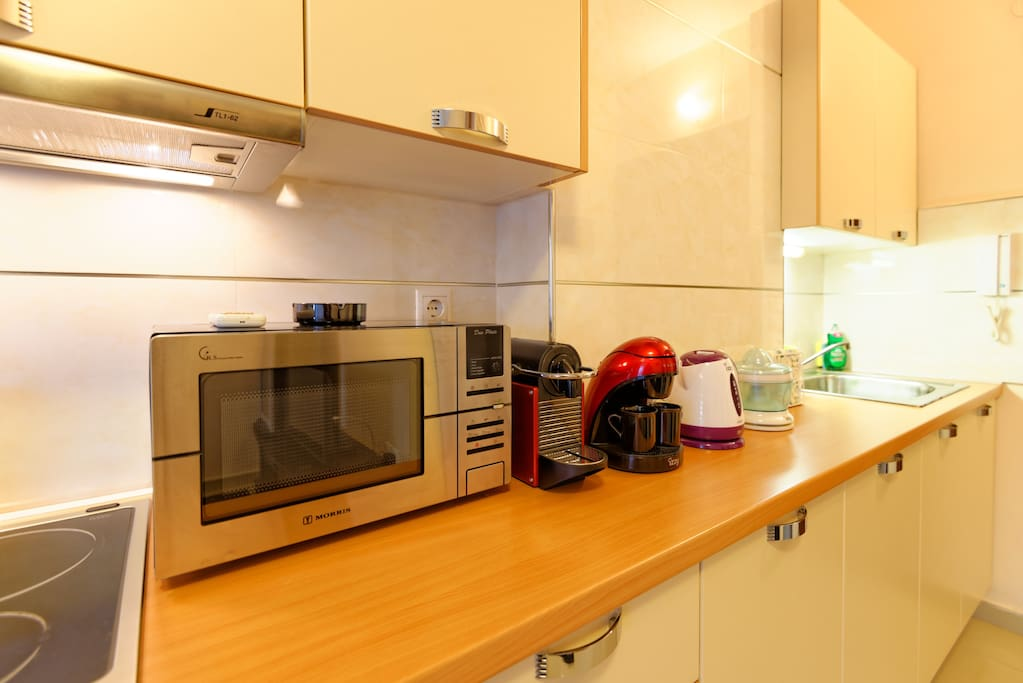 Kitchen, equipped with stove top, microwave/grill oven, Nespresso, filter coffee machine, etc.