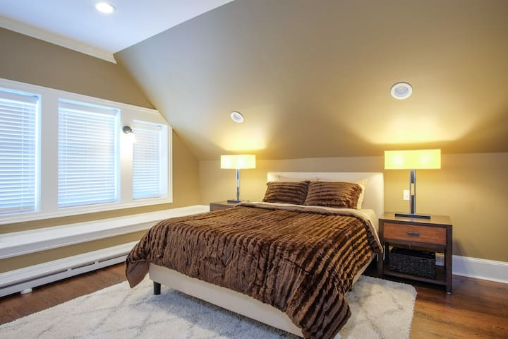 Bedroom with full size bed set