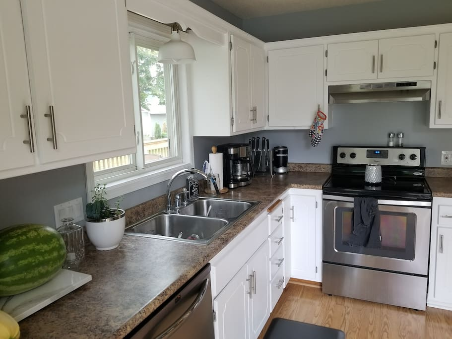 Shared kitchen space with owners