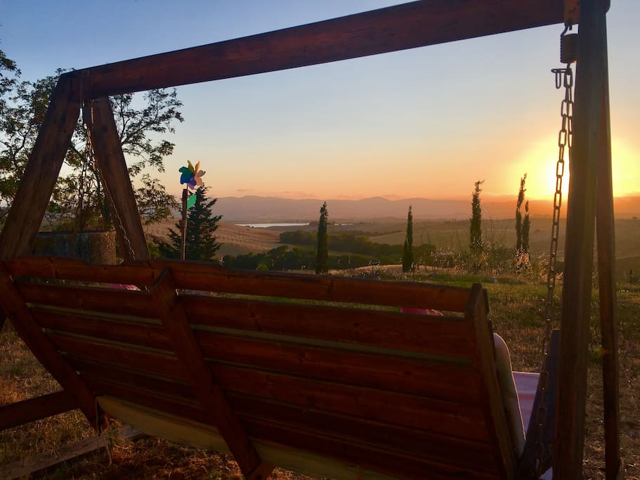 sunset from our rocking chair