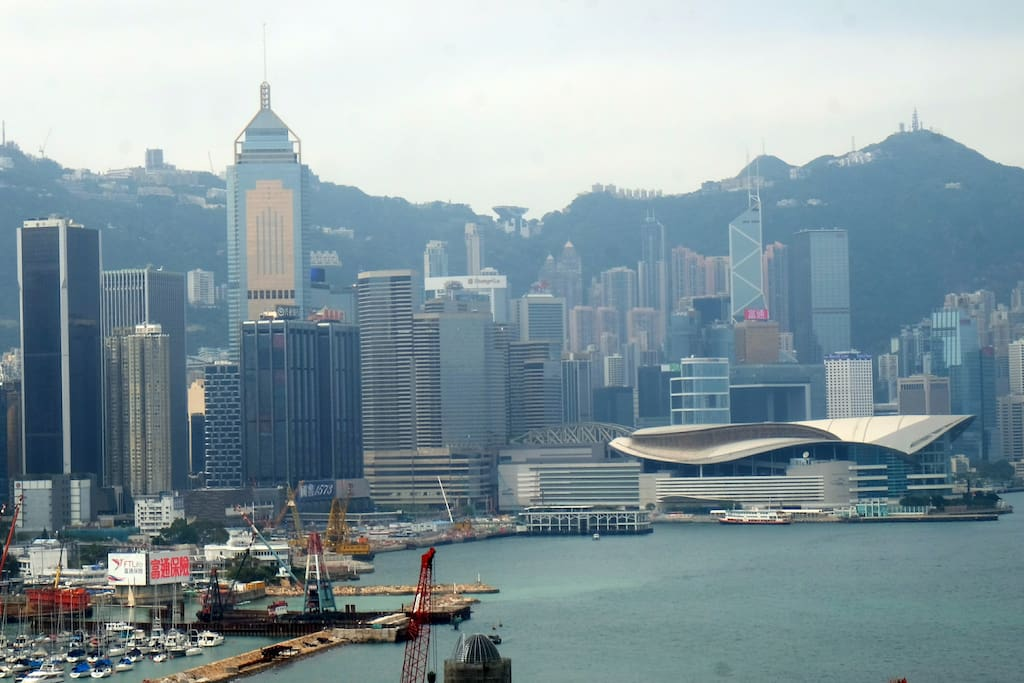 View of Victoria Harbour from the apartment