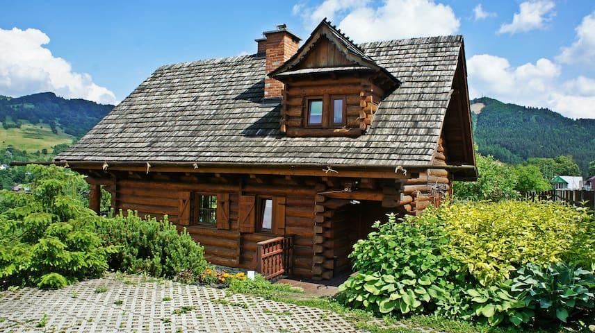 Dom z Widokiem / Pikny :) dom z bali w Beskidach