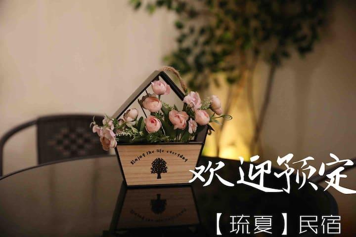 【琉夏Home 03】 庭院式北欧浪漫满屋/市中心/出门就是银泰城/鲁迅故里沈园旁/家庭影院投影