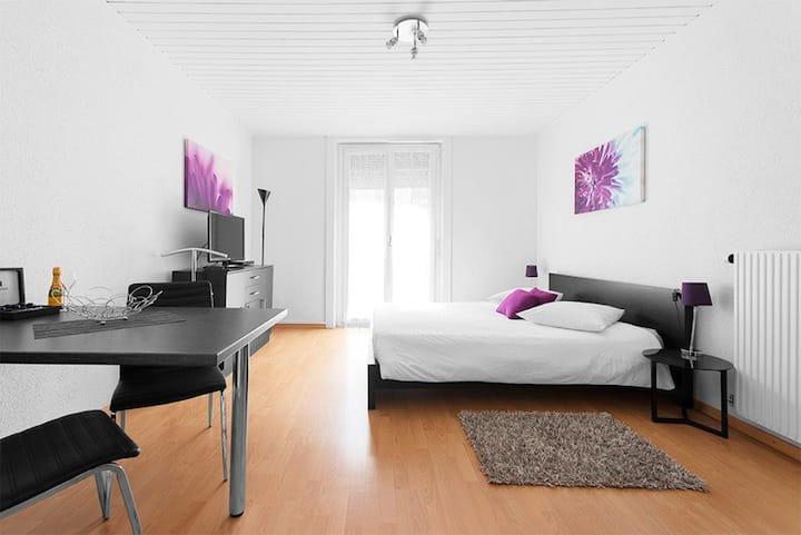 Grand studio avec balcon, au centre ville Floréal