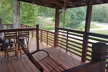 Large Covered Porch with Porch Swing