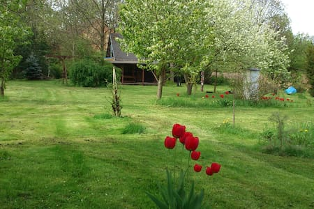 wooden cabin with large garden near prague - Roztoky - Luontohotelli