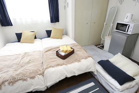 Shinsaibashi Apt w Free Wifi - Clean&Convenient! - Nishi-ku, Ōsaka-shi - Departamento