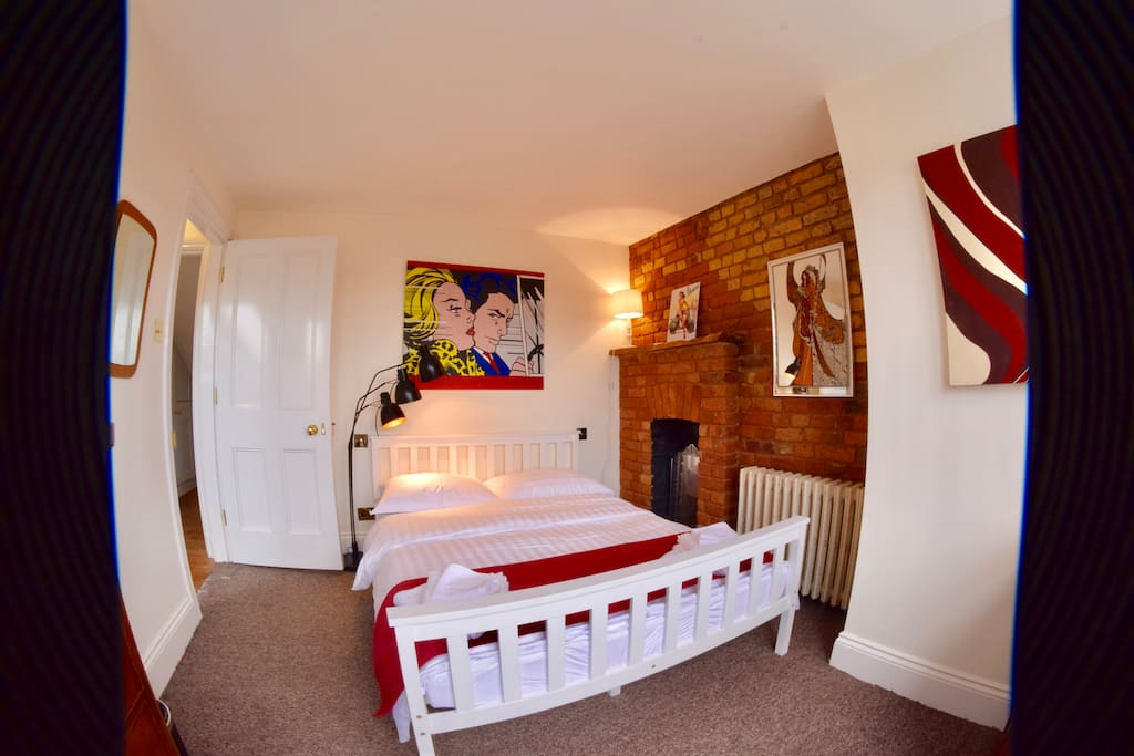 The room has great character with the exposed brickwork