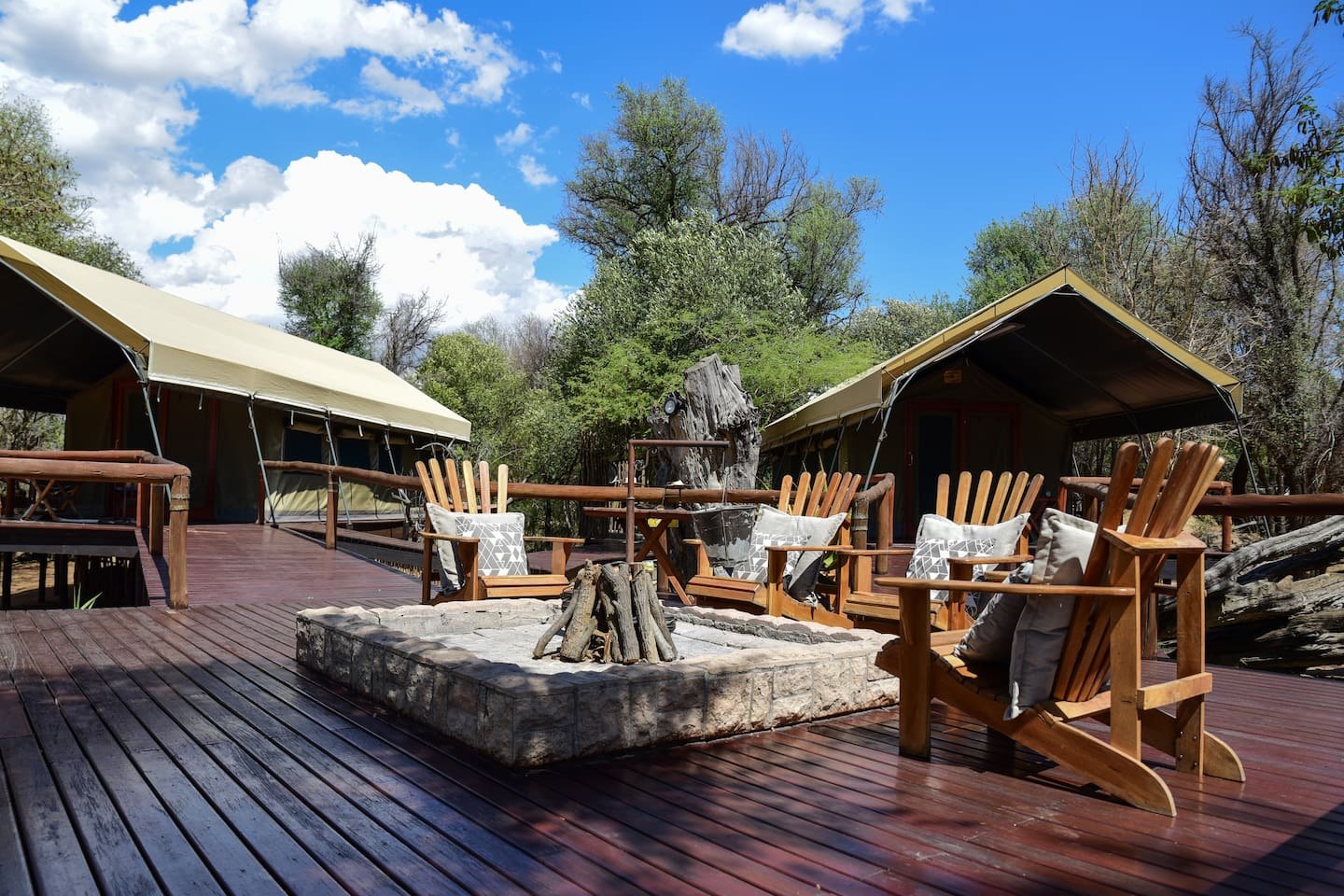 The tented camp