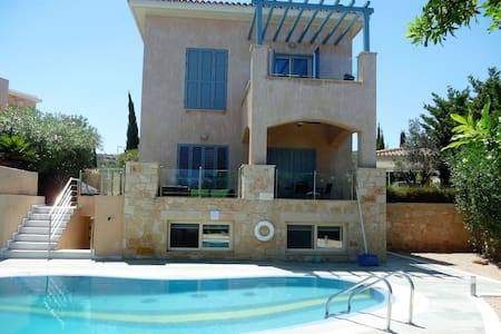 Villa with Pool on Yiannakis Beach nr Latchi