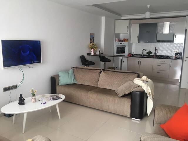 A spacious new 1-bedroom apartment in Mahmutlar