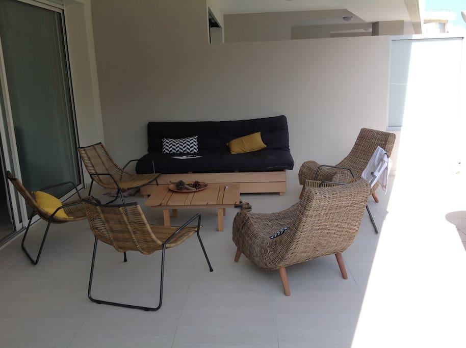 Terrasse 20 m2  vue mer