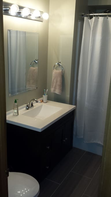 Clean and spacious bathroom