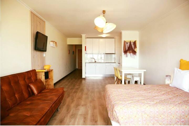 Fabuloso apartamento T0 em Jardins da Rocha