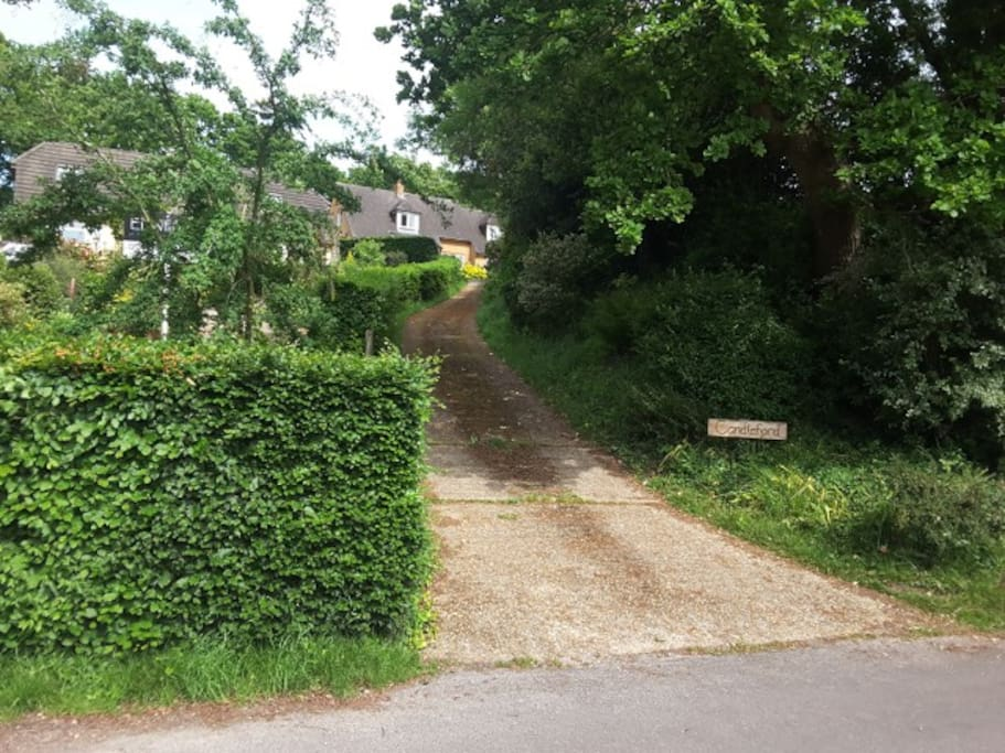 Entrance to Candleford from road