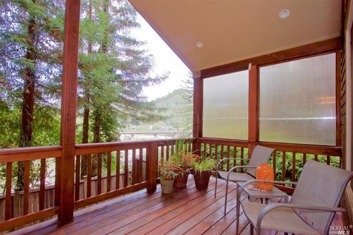 Riverview ~ Hot Tub & Stunning Russian River Views - Monte Rio - Haus