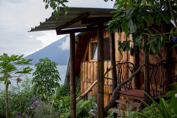 Eco Cottage on Lake Atitlan - San Marcos - Houten huisje
