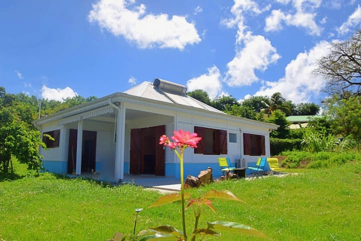 Villa Créole vue panoramique sur mer des Caraïbes