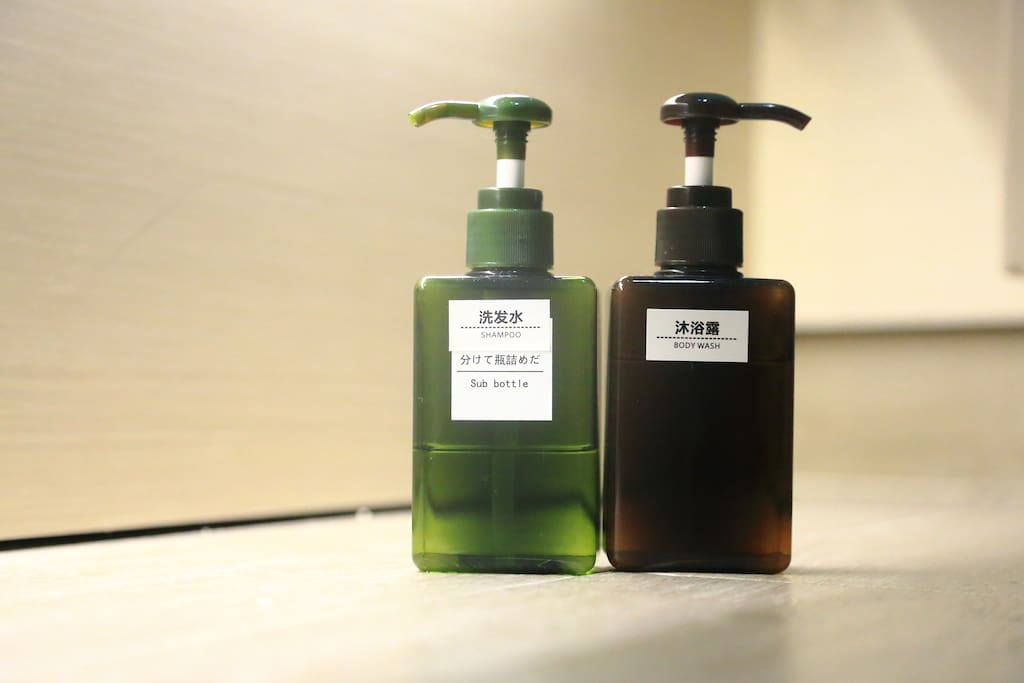 Shampoo and Shower Gel (provided)