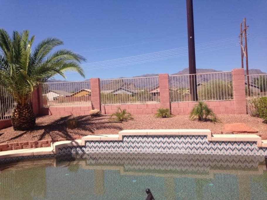 Pool with Superstition Mtns Views