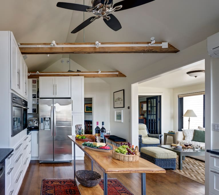 Kitchen and porch views - north and east