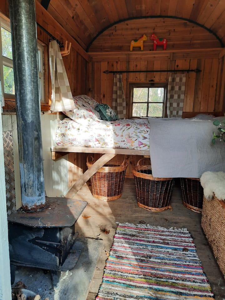 George's Handmade Hut at Moreland's Copse