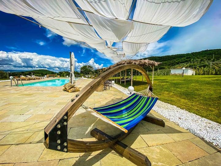 Villa Il Sogno di Pietro, piscina privata e AC