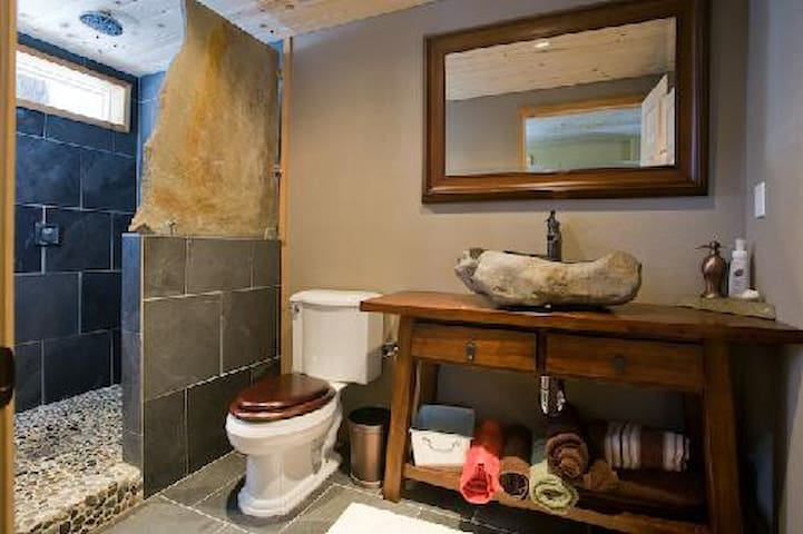 Stone and Tile shower