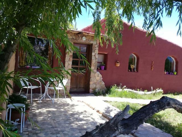 Cabaña El Cardón,pleno campo,a 800 mts del centro.