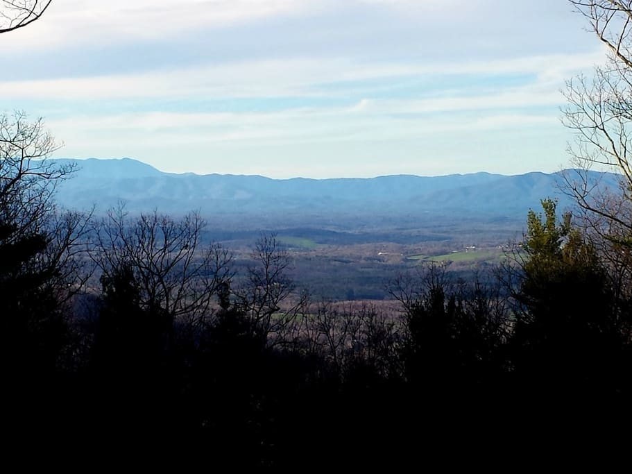 View of Blue Ridge Mtns, taken from camping platform