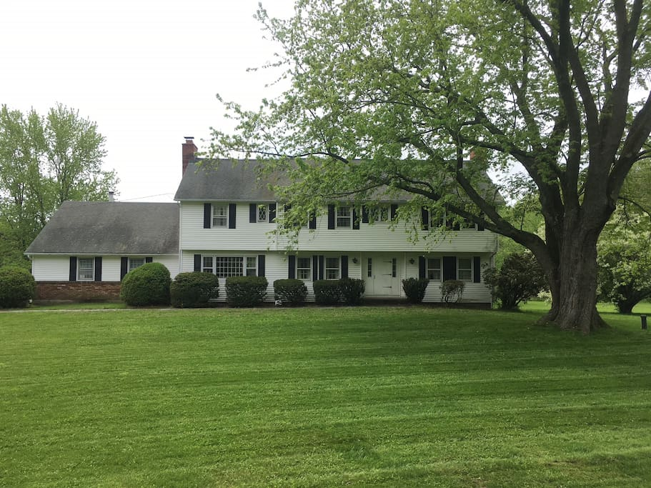 The view of the front of the house on Judd Farm Road.  It is at the cross section of Guernseytown and Judd Farm.