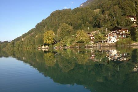 Kleine helle Wohnung idyllisch, direkt am See - Niederried bei Interlaken - Apartmen
