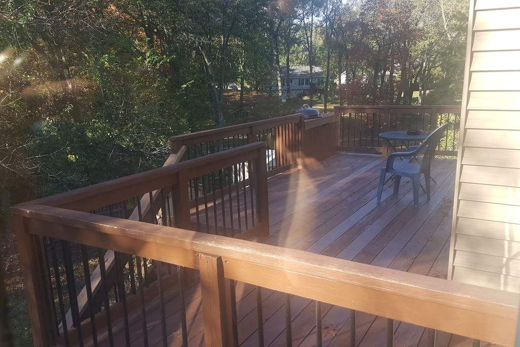 Enjoy the sun and breeze on secluded back deck.