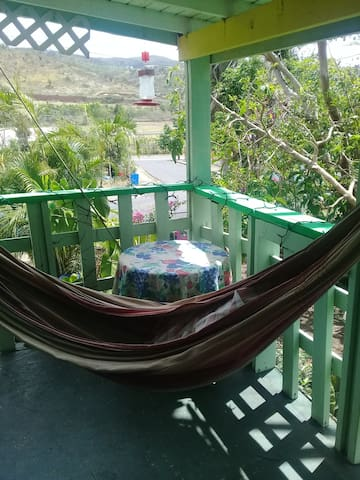 Enjoy the front porch with hammock!