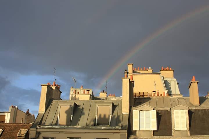 Une chambre sous les toits, dans le Marais