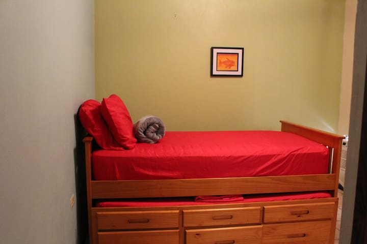 Twin Beds and wall unit a/c