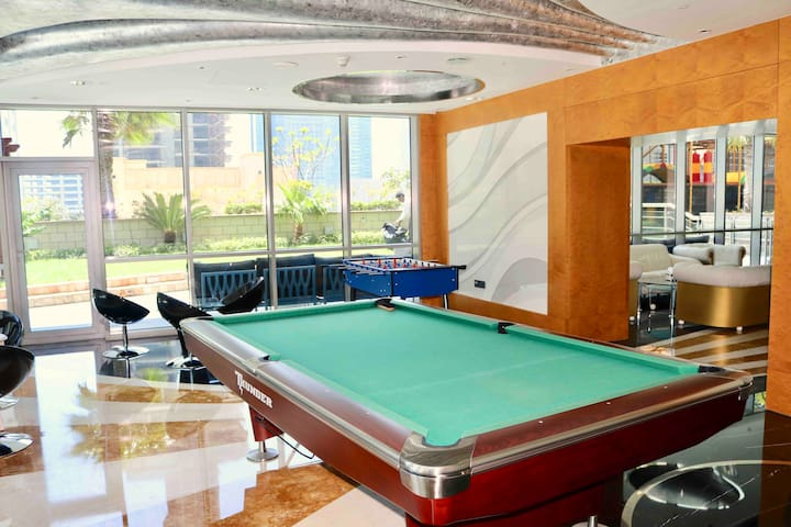 Entertainment room with billiard and kicker :)