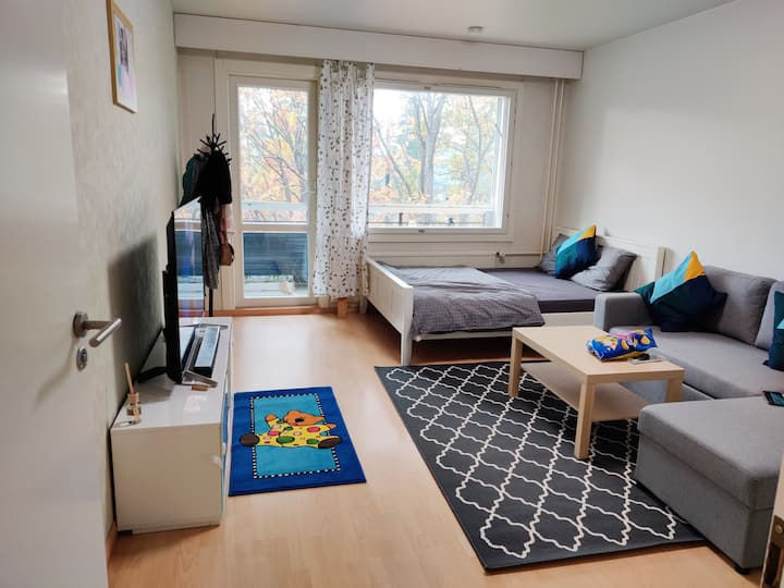 1 spacious private bedroom for upto 4 people.